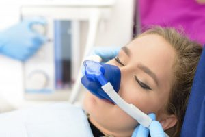 a woman sedated for a dental procedure